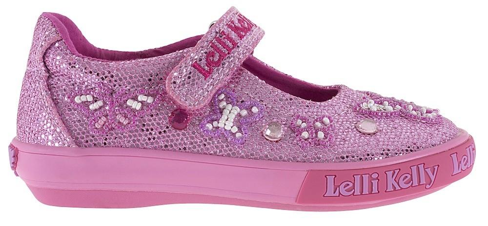 1087983aaf09 Lelli Kelly Butterfly Pink Glitter Canvas Shoes - Little Wanderers