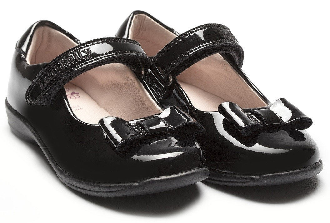 Lelli Kelly Perrie Girls Black Patent School Shoe