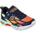 Skechers Flex Glow Dezlom Navy Orange Trainers