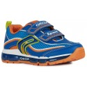 Geox Android Blue Orange Lights Trainers