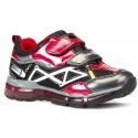 Geox Android Red Black Trainers