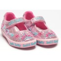 Lelli Kelly Tiara Pink Glitter Canvas Shoes