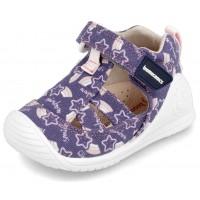 Biomecanics 202205-A Purple Canvas Shoes