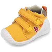 Biomecanics 202212-C Yellow Canvas Shoes