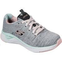 Skechers Brisk Escape Grey Mint Trainers