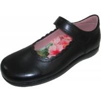 Petasil Blanche Black Leather School Shoes