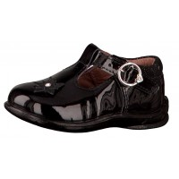 Ricosta Winsy Black Patent T-bar Shoes