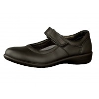 Ricosta Beth Black Leather School Shoes