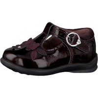 Ricosta Winsy Burgundy Patent T-bar Shoes