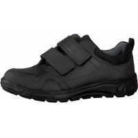 Ricosta Tamo Black Leather School Shoes