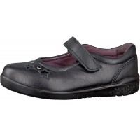 Ricosta Lyla Black Leather School Shoes