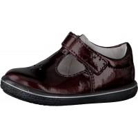 Ricosta Pepino Winona Burgundy Patent T-bar Shoes