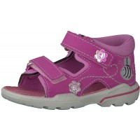 Ricosta Pepino Kittie Candy Pink Flower Sandals
