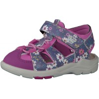 Ricosta Pepino Gery Pink Blue Floral Sandals