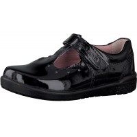 Ricosta Scarlett Black Patent T-bar School Shoes