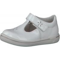 Ricosta Pepino Winona White Patent T-bar Shoes