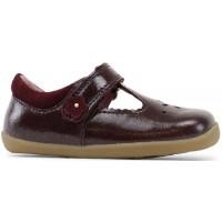 Bobux Step Up Reign Bordeaux Gloss T-bar Shoes