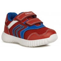 Geox Waviness Red Blue Trainers