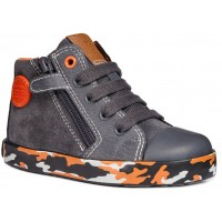 Geox Kilwi Grey Orange Boots