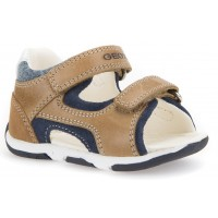 Geox Tapuz Caramel Sandals