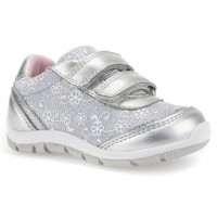 Geox Shaax Silver Flower Trainers