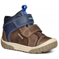 Geox Omar Coffee Blue Boots