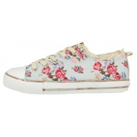 Gioseppo Bandelaire Pale Blue Multi Print Canvas Shoes
