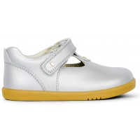 Bobux I-walk Louise Silver Shimmer T-bar Shoes