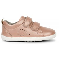 Bobux Step Up Grass Court Rose Gold Shoes