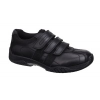 Hush Puppies Seb Black Leather School Shoes