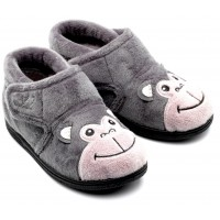 Chipmunks Bubbles Grey Slippers