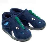 Chipmunks Dino Navy Blue Slippers