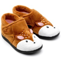 Chipmunks Doey Brown Slippers