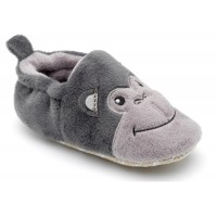 Chipmunks Fizz Grey Baby Slippers