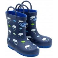 Chipmunks Rain Navy Wellingtons