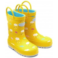 Chipmunks Rain Yellow Wellingtons