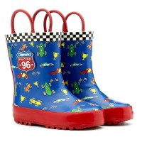 Chipmunks Stirling Blue Red Wellingtons