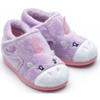 Chipmunks Unicorn Lilac Slippers