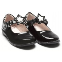 Lelli Kelly Colourissima Star LK8600 Black Patent School Shoes