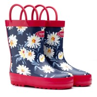 Chipmunks Daisy Floral Navy Wellingtons