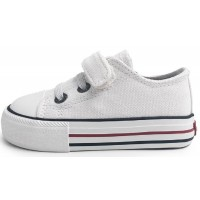 Levis Trucker Mini Low White Canvas Shoes