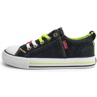 Levis Original Low Black Denim Canvas Shoes