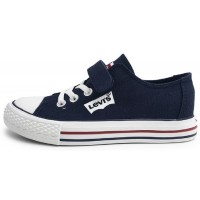 Levis Trucker Elastic Navy Canvas Shoes