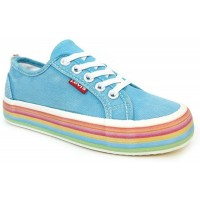 Levis Pearl Lace Aqua Blue Canvas Shoes