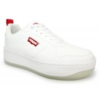 Levis Queens White Trainers