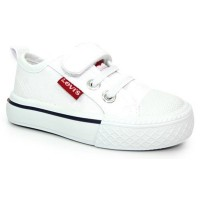 Levis Maui Mini White Canvas Shoes