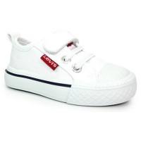 Levis Maui Mini White Canvas Shoes