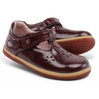 Bobux I-walk Rhyme Plum Gloss T-bar Shoes