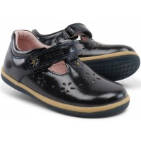 Bobux I-walk Rhyme Midnight Gloss T-bar shoes