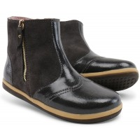 Bobux Kid+ Shimmer Charcoal Gloss Boots